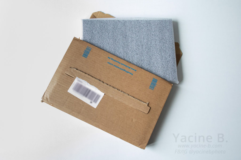 Livraison du livre dans un carton et une protection en mousse